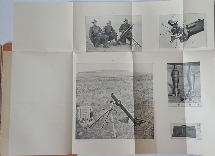 Militaria; Lot with 5 books concerning the army - 1916/1928