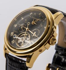 CALVANEO1583 – Evidence diamond gold/black  –Dual time – Automatic men's wristwatch. New – Never worn.