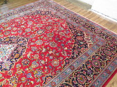 Wonderfully beautiful Persian carpet, Kashan/Iran, 418 x 313 cm, no. 5466, semi antique mid-1900s, TOP CONDITION