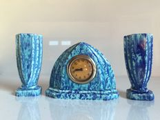 Mantelpiece clock/set - Made in France - 1930s.