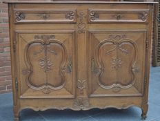 A rare Louis XV oak sideboard - France - second half of the 18th century