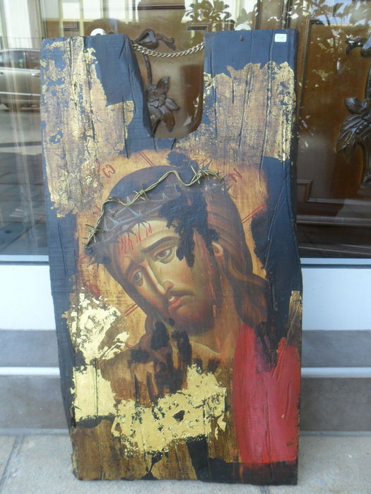 Greek icon - Jesus Christ - 1900