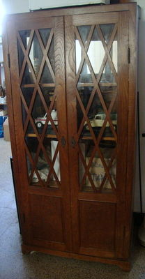 Large Vitrine in Oak Wood, Designed piece - Italy - ca. 1930