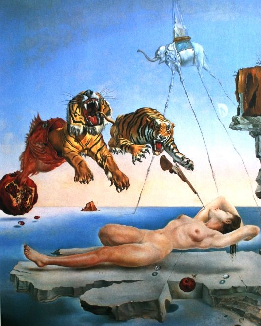 Salvador Dalí (after) - Dream Caused by the Flight of a Bee around a Pomegranate a Second before Awakening