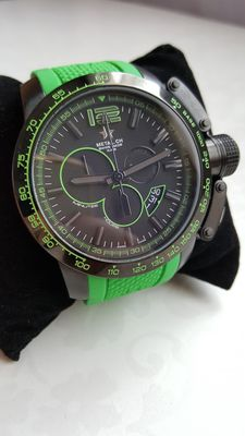 Metal.ch - Men's Diver Green Silicone Watch