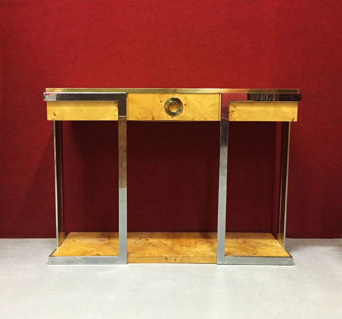 """Willy Rizzo by Mario Sabot – Console table """"Alveo Range"""""""