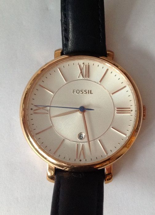 60f12ade2 Fossil Jacqueline rose gold plated women's watch ES3843 - Catawiki