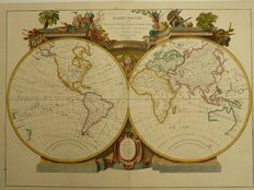 World; Le Sr. Janvier - Mappe Monde ou Description du Globe Terrestre - 1780