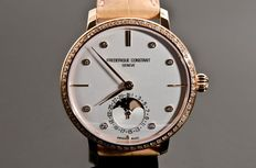Frederique Constant - Slimline Complication Moonphase Full River Diamond's.