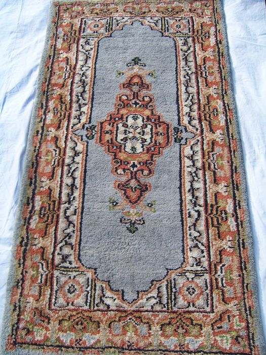 Indo Mir Kirman Hand Knotted Rug India End Of The 20th Century