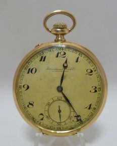International Watch Company (IWC) Pocket watch Lepine and Remontoir Circa 1890.