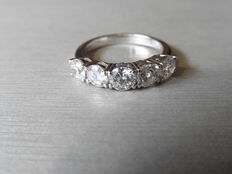 1.50ct Five-stone diamond ring - I/J, si1