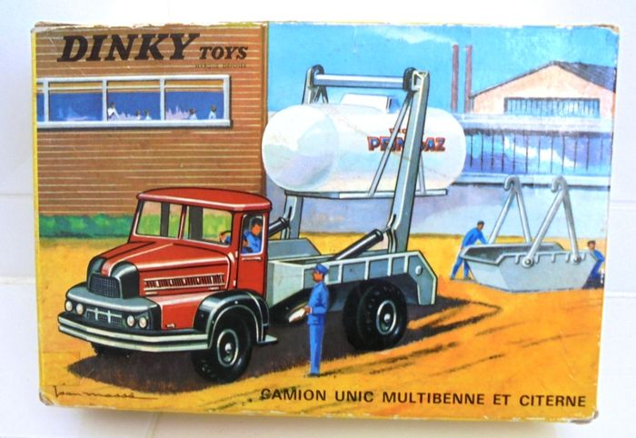 dinky toys france 1 48 scale camion unic multibenne et citerne catawiki. Black Bedroom Furniture Sets. Home Design Ideas