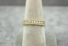14 kt yellow gold set with 0.70 ct of diamonds SI1 F/G