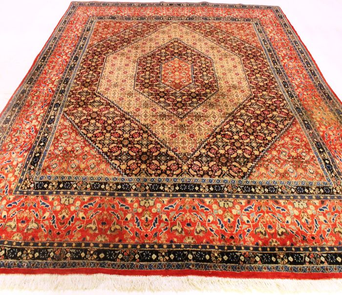 Persian Carpet Quality: High Quality Hand-knotted Persian Carpet Bidjar Moud Made