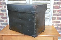 Louis Vuitton - a black lacquered travel chest or case - France - early 20th century