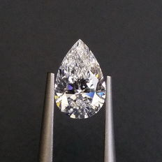 GIA 1.01 ct  E  SI1 pear brilliant-cut diamond