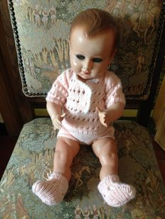 Antique celluloid baby doll - Petit Colin - France