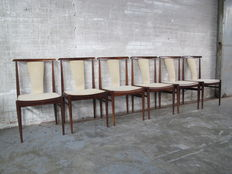 Designer unknown – Set of six rosewood chairs