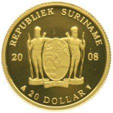 Suriname – 20 Dollars 2008, 1/25 oz.