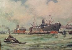 W.H. Akkermann - Shipping in the port of Rotterdam - 20th century