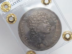 Kingdom of Naples – 5 Lire, 1813 – Gioacchino Napoleone – Silver