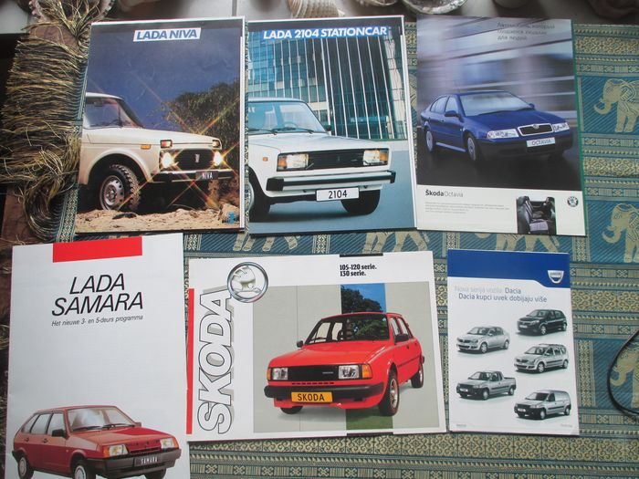 car brochures eastern europe 26x 1984 2002 catawiki. Black Bedroom Furniture Sets. Home Design Ideas