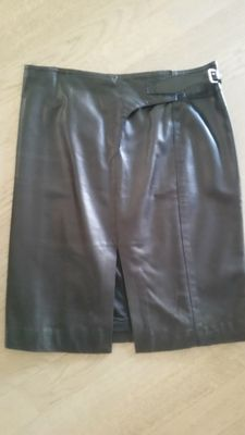 Armani Collezioni — Leather skirt