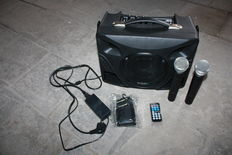Portable sound system on battery