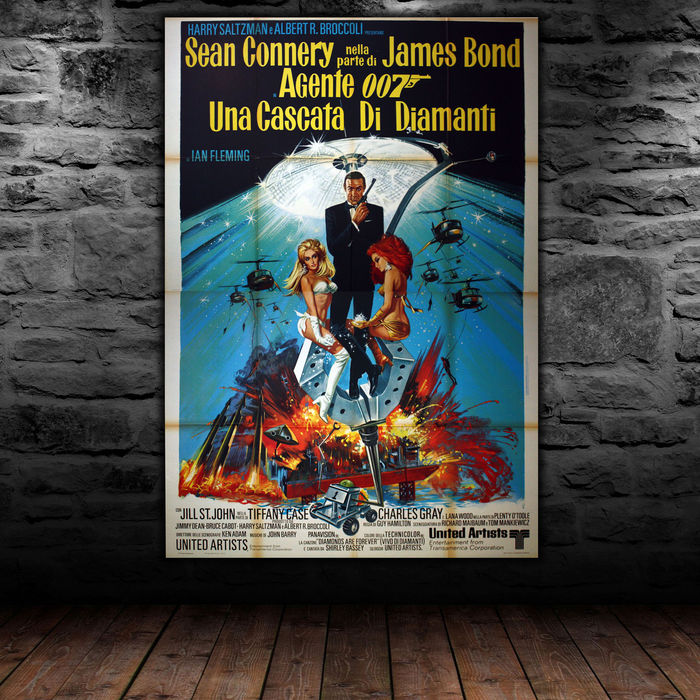 James Bond - Original Italian poster - 007 James Bond Diamonds Are Forever - 140x200 cm - Sean Connery