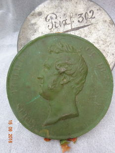 A rare and unusual wax seal with the portrait of King Louis Philippe (1773-1850) - France - dated 1830