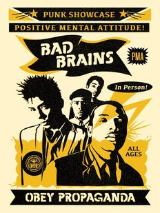 Shepard Fairey (OBEY) - Bad Brains Punk Showcase Rock For Light