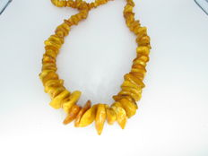 Natural Baltic amber necklace, butterscotch colour