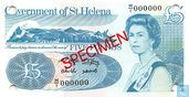 St. Helena 5 Pounds ND (1998) Specimen