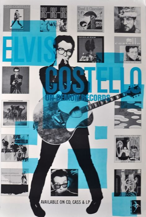 Album promo posters (9 x): Paul Weller Elvis Costello Blue Note Pietasters Smogus Nuff Said The High Llamas Scott4