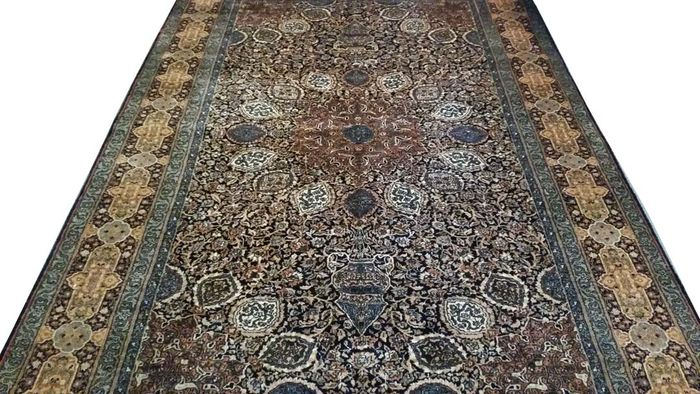 Oriental Persian Kerman Design Pakistani Double Knot Carpet 5 x 8, 152 x 243 cm