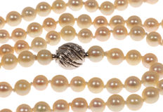 Cultured pearl necklace 5.5-6 mm with white gold bayonet clasp