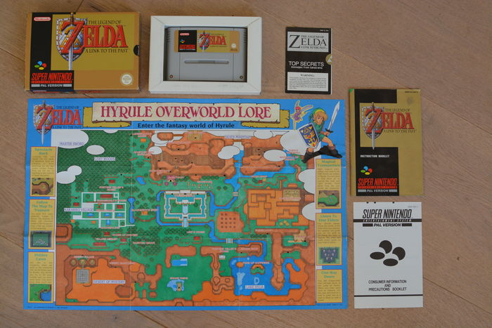 The Legend Of Zelda - A Link To The Past PAL, CIB for SNES Super