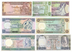 Syria - 1 to 500 Pounds 1982-1992 - Pick 93 / 100 to 105