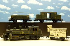 Märklin H0 - 26731 – Four piece Bavarian freight train with tender locomotive D XII and 3 carriages