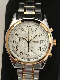 "Sekonda ""Chronograph"" – men's dresswatch – 2017 -- unworn, mint condition"