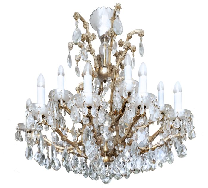 "An impressive Bohemian Lustry crystal and brass ""Maria Theresa"" chandelier, the Czech Republic, of recent origin"