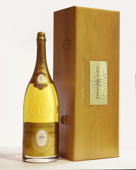 1990 louis roederer cristal brut millesime champagne 1 methuselah 6l wooden case catawiki. Black Bedroom Furniture Sets. Home Design Ideas