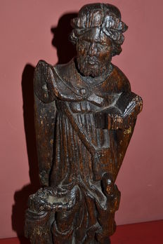 Large Saint Roch in oak wood - School of the North, France or Belgium - late 16 th / beginning of the 17 th century