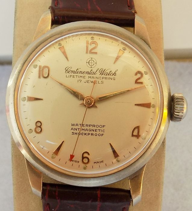 432d7ceb6ee8 CONTINENTAL WATCH Switzerland 17 jewels -- men s wristwatch from the 1960s