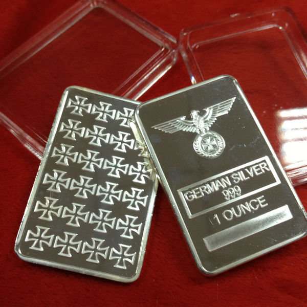 Germany iron cross silver bars & medal collection 5 x silver bars