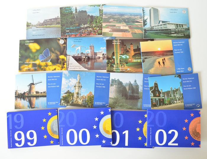 The Netherlands - Year collections 1987-2002 (16 different ones) complete