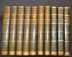 G. Lêbre - Revue des grands procès contemporains - 10 volumes - 1883/1892