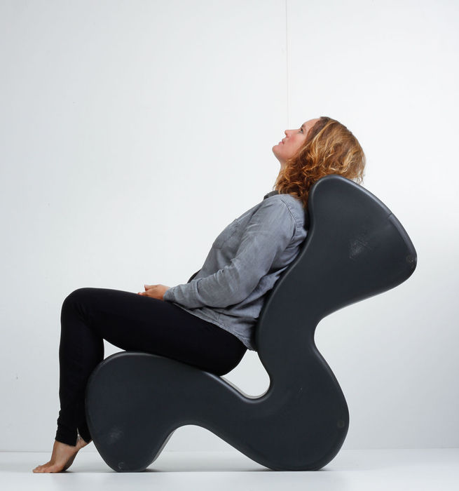 Verner panton for innovation randers phantom chair in black catawiki - Verner panton phantom chair ...