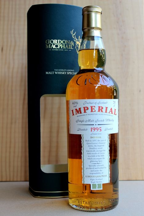 Imperial 1995 bottled 2014 limited Edition 70cl, 43% vol. incl. Box, Gordon & MacPhail